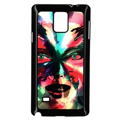 Abstract Girl Samsung Galaxy Note 4 Case (black) by Valentinaart