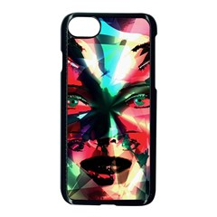 Abstract Girl Apple Iphone 7 Seamless Case (black) by Valentinaart