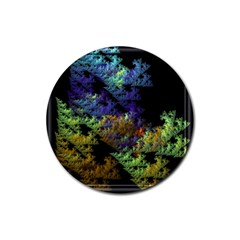 Fractal Forest Rubber Round Coaster (4 Pack)  by Simbadda