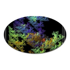 Fractal Forest Oval Magnet by Simbadda