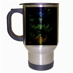 Fractal Forest Travel Mug (silver Gray) by Simbadda