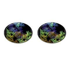 Fractal Forest Cufflinks (oval) by Simbadda