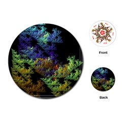 Fractal Forest Playing Cards (round)