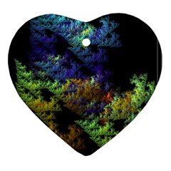 Fractal Forest Heart Ornament (two Sides) by Simbadda