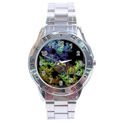 Fractal Forest Stainless Steel Analogue Watch by Simbadda
