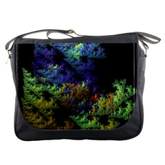 Fractal Forest Messenger Bags by Simbadda