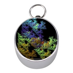 Fractal Forest Mini Silver Compasses by Simbadda