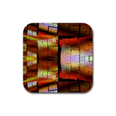 Fractal Tiles Rubber Square Coaster (4 Pack)  by Simbadda