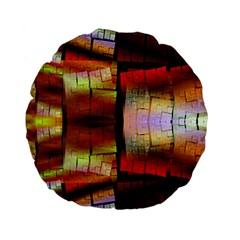 Fractal Tiles Standard 15  Premium Flano Round Cushions by Simbadda
