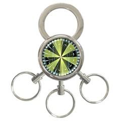 Fractal Ball 3 Ring Key Chains by Simbadda