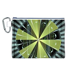 Fractal Ball Canvas Cosmetic Bag (l) by Simbadda