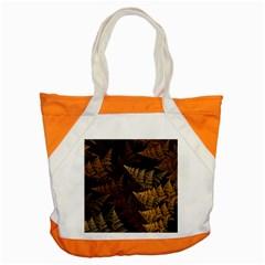 Fractal Fern Accent Tote Bag by Simbadda
