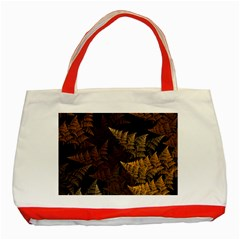 Fractal Fern Classic Tote Bag (red) by Simbadda