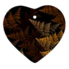 Fractal Fern Heart Ornament (two Sides) by Simbadda
