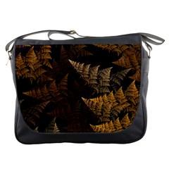 Fractal Fern Messenger Bags by Simbadda