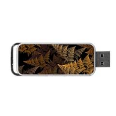 Fractal Fern Portable Usb Flash (one Side) by Simbadda