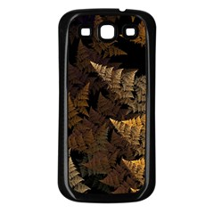 Fractal Fern Samsung Galaxy S3 Back Case (black) by Simbadda