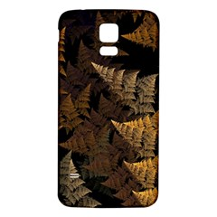 Fractal Fern Samsung Galaxy S5 Back Case (white) by Simbadda