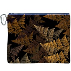 Fractal Fern Canvas Cosmetic Bag (xxxl) by Simbadda