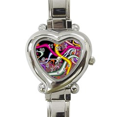 Fractal Roots Heart Italian Charm Watch by Simbadda