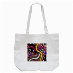 Fractal Roots Tote Bag (white) by Simbadda