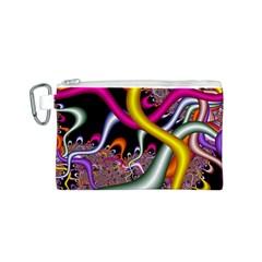 Fractal Roots Canvas Cosmetic Bag (s) by Simbadda