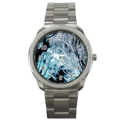 Fractal Forest Sport Metal Watch by Simbadda