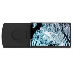 Fractal Forest Usb Flash Drive Rectangular (4 Gb) by Simbadda
