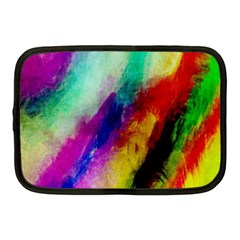 Abstract Colorful Paint Splats Netbook Case (medium)  by Simbadda