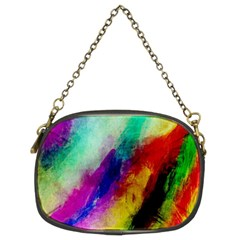 Abstract Colorful Paint Splats Chain Purses (two Sides)  by Simbadda
