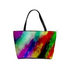 Abstract Colorful Paint Splats Shoulder Handbags by Simbadda