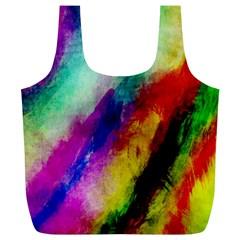 Abstract Colorful Paint Splats Full Print Recycle Bags (l)  by Simbadda