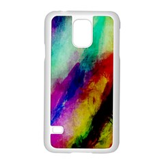 Abstract Colorful Paint Splats Samsung Galaxy S5 Case (white) by Simbadda