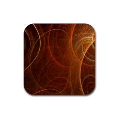 Fractal Color Lines Rubber Square Coaster (4 Pack)  by Simbadda