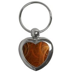 Fractal Color Lines Key Chains (heart)  by Simbadda