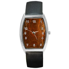 Fractal Color Lines Barrel Style Metal Watch by Simbadda