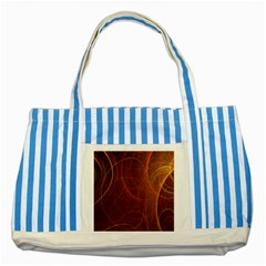 Fractal Color Lines Striped Blue Tote Bag by Simbadda
