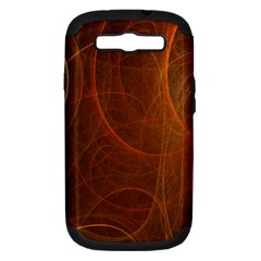 Fractal Color Lines Samsung Galaxy S Iii Hardshell Case (pc+silicone) by Simbadda