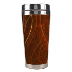 Fractal Color Lines Stainless Steel Travel Tumblers by Simbadda