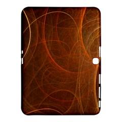 Fractal Color Lines Samsung Galaxy Tab 4 (10 1 ) Hardshell Case  by Simbadda
