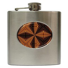 Fractal Patterns Hip Flask (6 Oz) by Simbadda