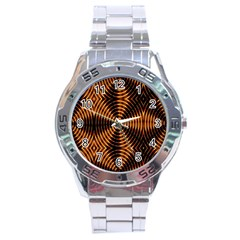 Fractal Patterns Stainless Steel Analogue Watch by Simbadda