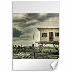 Traditional Cane House At Guayas District Ecuador Canvas 20  X 30   by dflcprints
