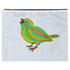 Bird Cosmetic Bag (xxxl)  by Valentinaart