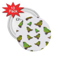 Birds 2 25  Buttons (10 Pack)  by Valentinaart