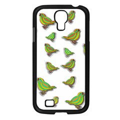 Birds Samsung Galaxy S4 I9500/ I9505 Case (black) by Valentinaart