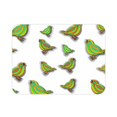 Birds Double Sided Flano Blanket (mini)  by Valentinaart