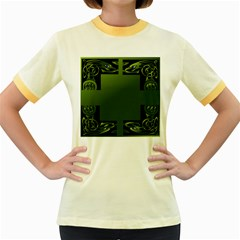 Celtic Corners Women s Fitted Ringer T Shirts by Simbadda