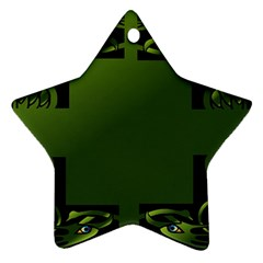 Celtic Corners Star Ornament (two Sides) by Simbadda