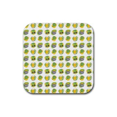 St Patrick s Day Background Symbols Rubber Square Coaster (4 Pack)  by Simbadda